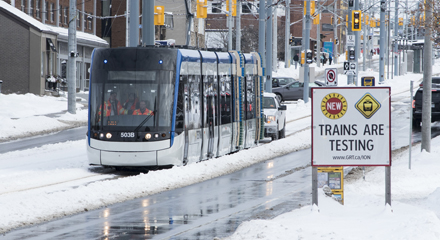 ION train testing on King Street