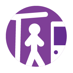 Icon with person standing at station