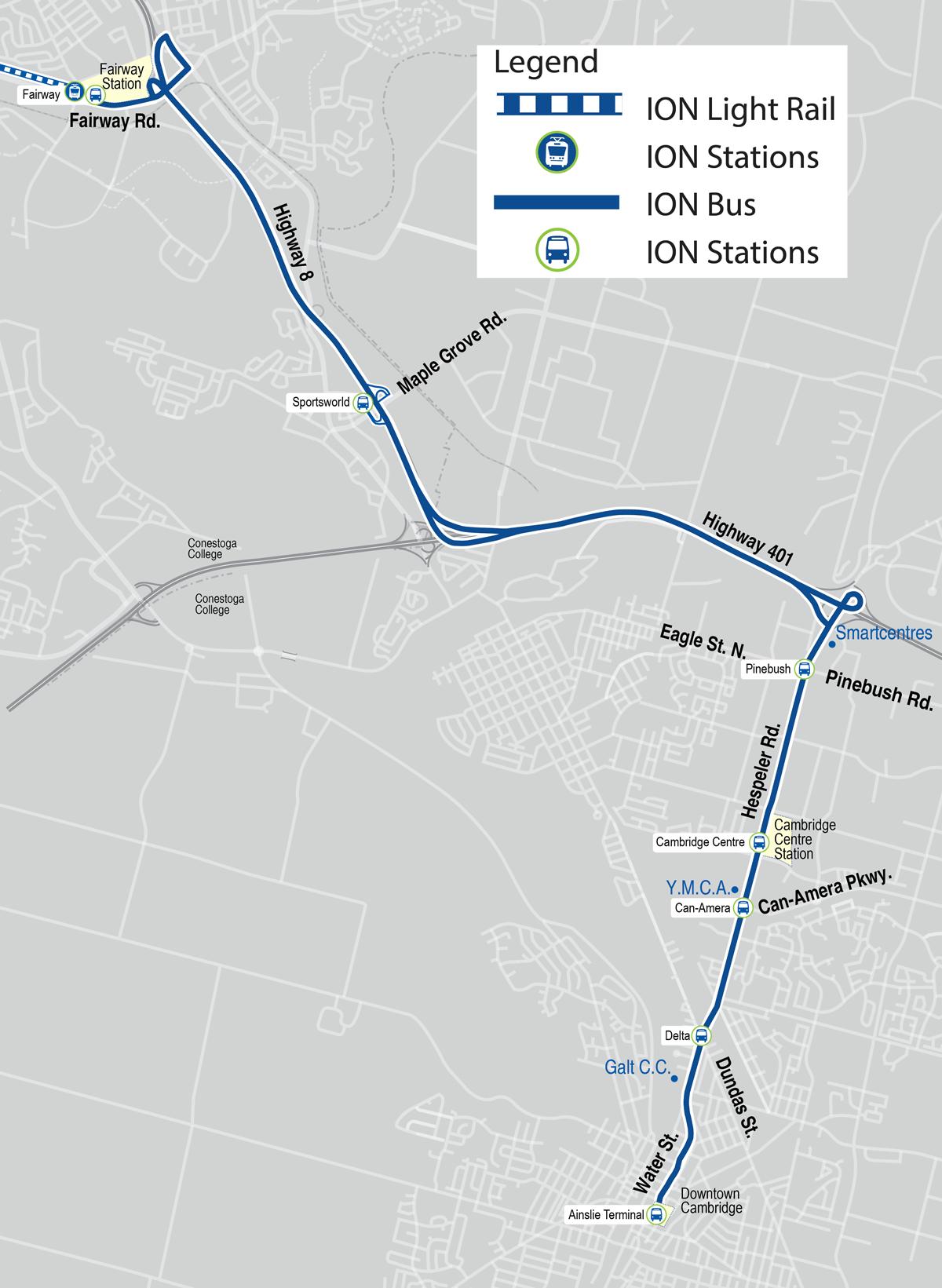 2018 transit network - Grand River Transit