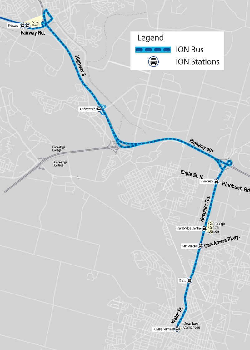 Map Of Ion Bus Route