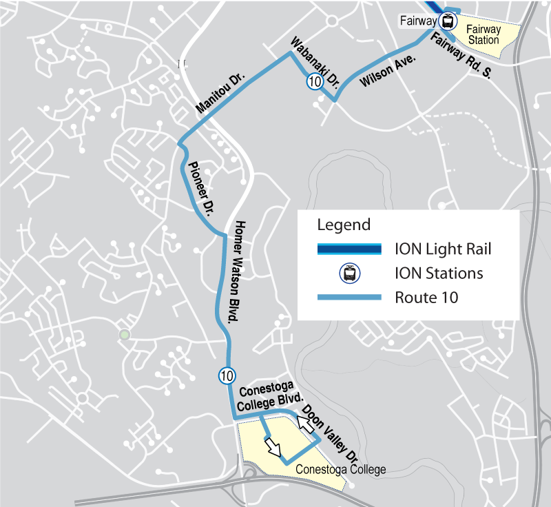 Map of proposed Route 10