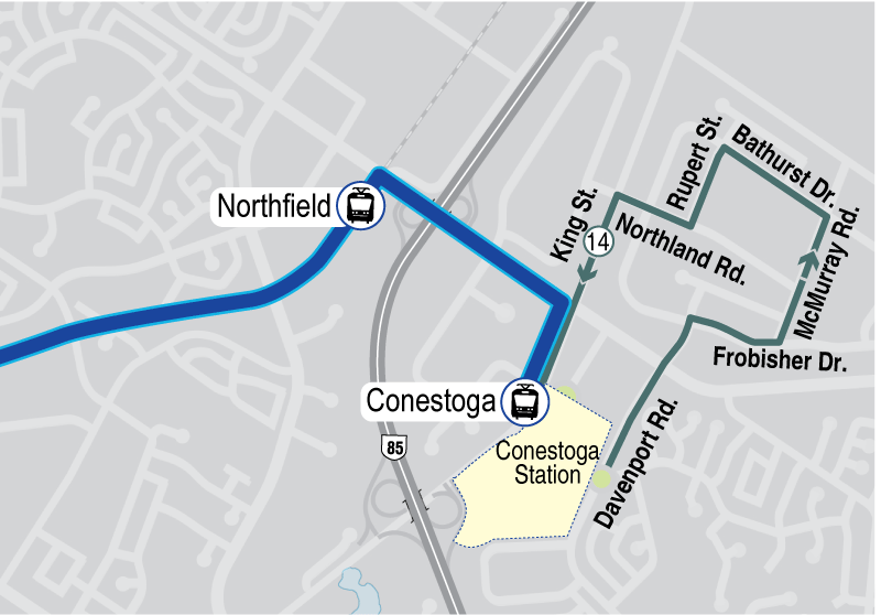 Map of proposed Route 14