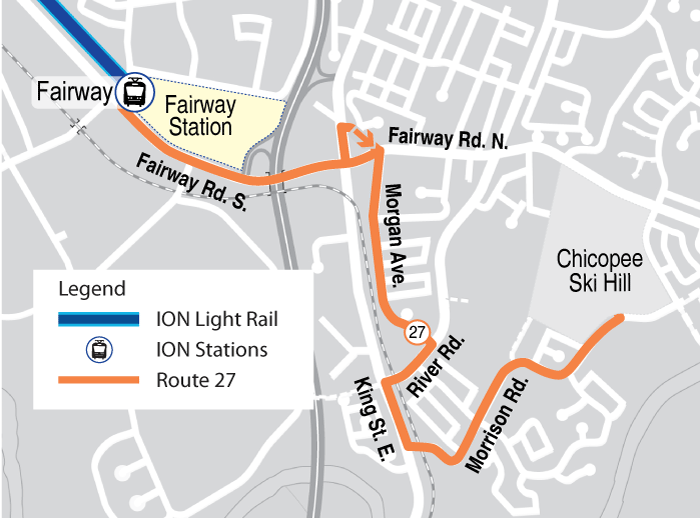 Map of proposed Route 27