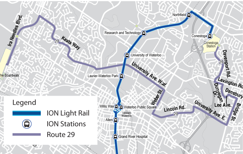 Map of proposed Route 29