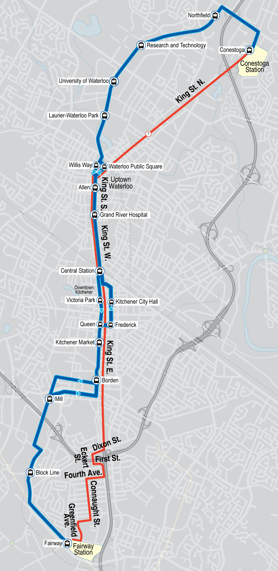 Map of proposed Route 7