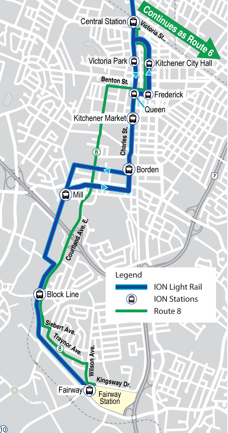 Map of proposed Route 8