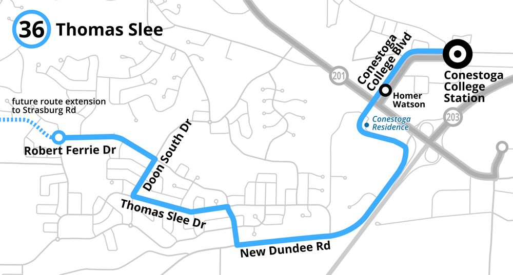 Map of the proposed Route 36 Thomas Slee