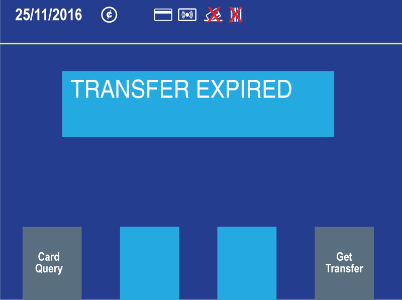 "New farebox customer display showing ""Transfer expired"" message"