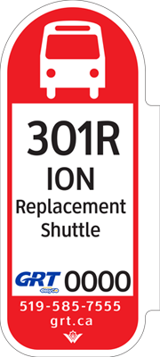 Stop marker for ION replacement shuttles